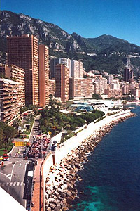 Monaco with its beach and mountains