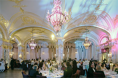 Ballroom dancing and dinner in Monte Carlo.