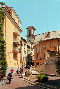 Typical street with stairs in Old Nice. Photo: © www.keithsarver.com